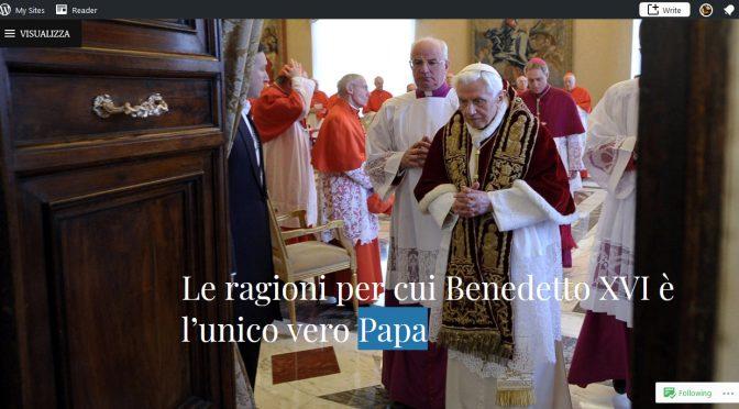 La sovrana e insindacabile Affermazione del Romano Pontefice